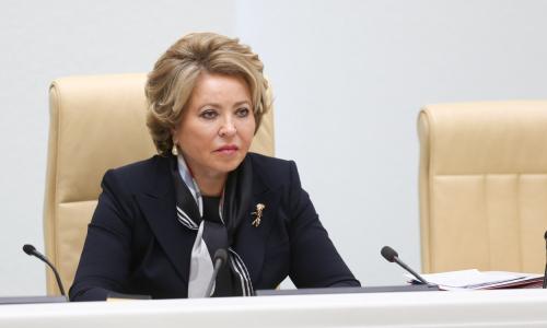 Матвиенко опровергла слухи о своей пенсии в 450 тыс. рублей